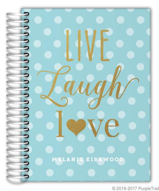 Faux Glitter Live Laugh Love Custom Daily Planner Daily Planners - Custom daily planner