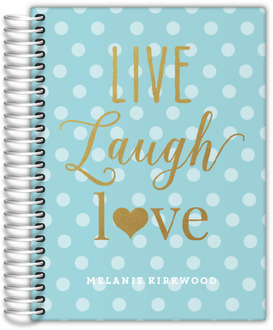 Faux Glitter Live Laugh Love Custom Daily Planner