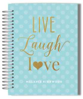 Faux Glitter Live Laugh Love Monthly Planner
