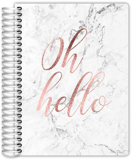 Oh Hello Faux Rose Gold Daily Planner