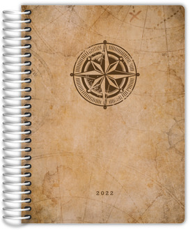 Vintage Compass Map Custom Daily Planner