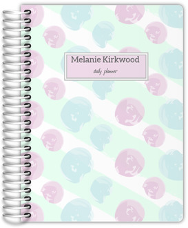 Soft Pastel Paint Daubs Custom Daily Planner
