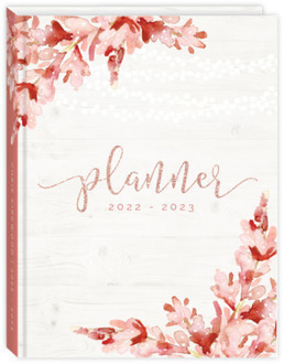 Faux Glitter Pink Floral Daily Planner