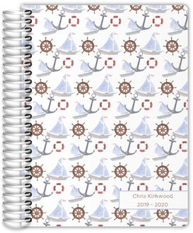 Greek Key Pattern Custom Daily Planner