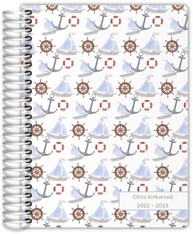 Watercolor Nautical Pattern Daily Planner