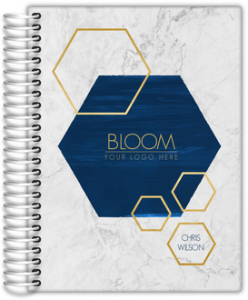 Modern Marble & Hexagon Daily Planner