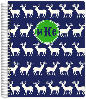 Deer Pattern Monogram Custom Daily Planner