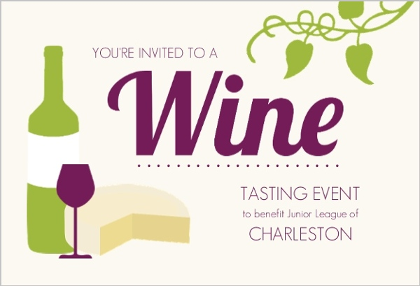 Wine Bottle And Cheese Wine Tasting Invitation Wine Party Invitations