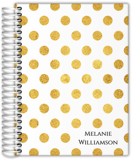 Golden Polka Dot Custom Daily Planner