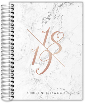 Rose Gold Year Marble Daily Planner