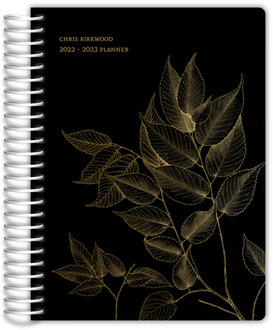 Minimal Faux Gold Foil Leaves Daily Planner