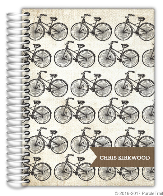 Vintage Bicycle Daily Planner Daily Planners - Custom daily planner