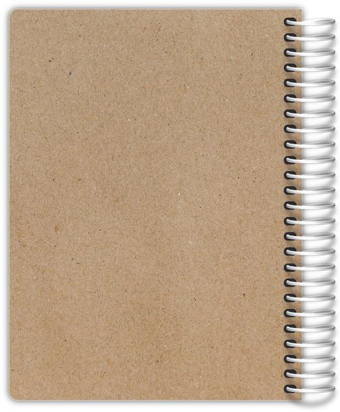 Traditional Black And Kraft Custom Daily Planner Daily Planners - Custom daily planner