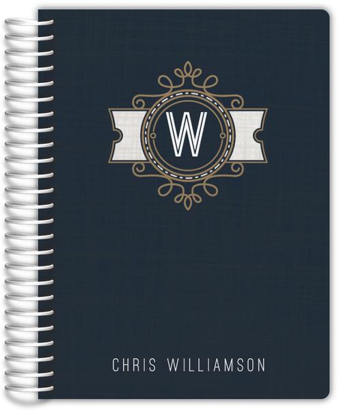 Modern Crest Monogram Custom Daily Planner Daily Planners - Custom daily planner