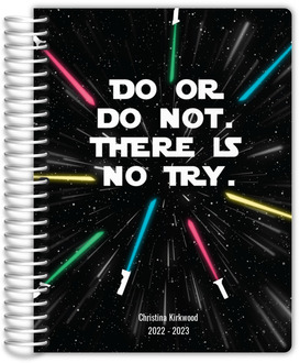 Striped School Colors Custom Daily Planner