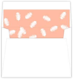 Taupe And Peach Feather Envelope Liner