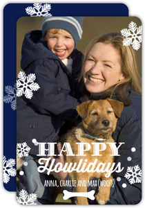 Happy Howlidays Snowflakes Dog Holiday Card