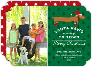 Santa Paws Dog Christmas Photo Card