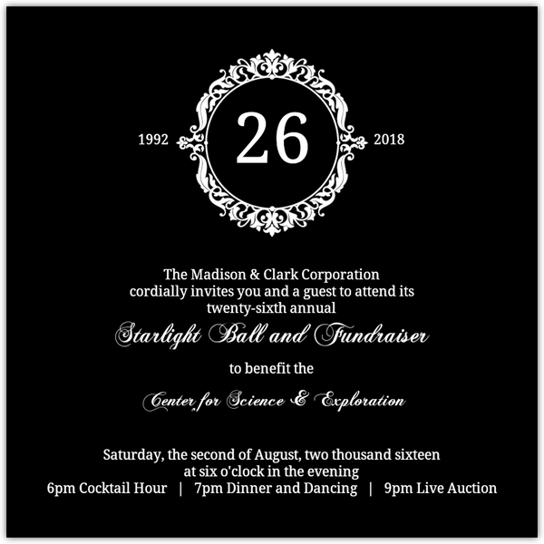 Fundraising Invitations  Fundraiser Invitation Template