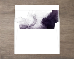 Dark Watercolor Stain Envelope Liner