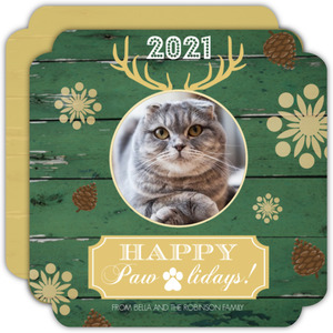 Happy Pawlidays Pet Photo Holiday Card