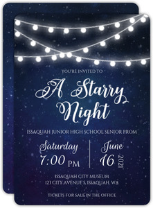 Decorative Lights Prom Invitation