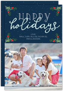 Woof Merry Christmas Dog Christmas Photo Card