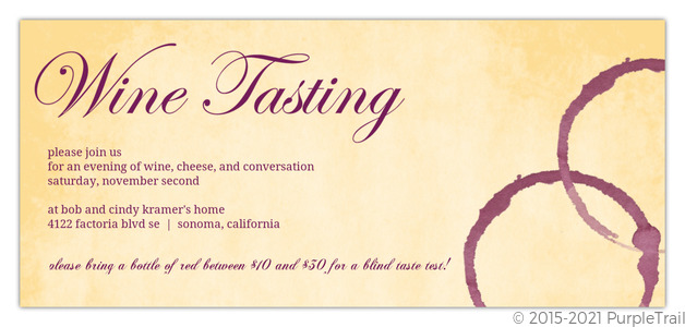 wine glass stain dinner party invitation dinner party invitations