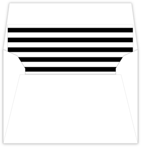 Black Striped Envelope Liner - 860