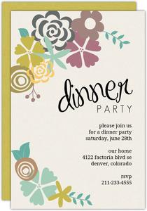 Dinner Party Invitations Dinner Invitations Purpletrail