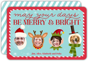 Be Merry And Bright Pet Christmas Photo Card
