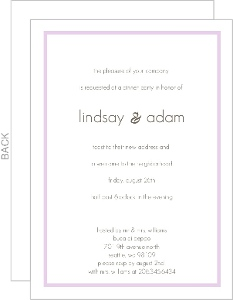 Lavendar And Simple Dinner Party Invitation