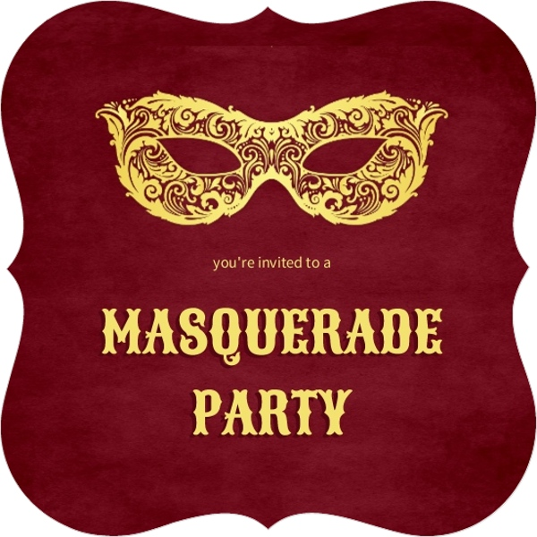 elegant red and gold masquerade party invitation cocktail party
