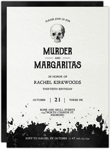 Murder Mystery Cocktail Party Birthday Invitation