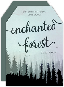 Enchanted Forest Luggage Tag Prom Invitation