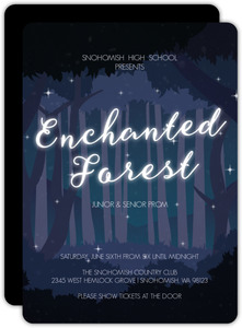 Midnight Enchanted Forest Prom Invitation