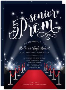 Hollywood Themed Prom Invitations Purpletrail