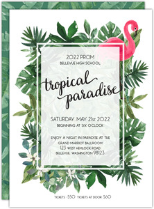 Lush Green Tropical Paradise Prom Invitation