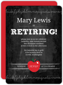 Simple Chalkboard Teacher Retirement Invitation