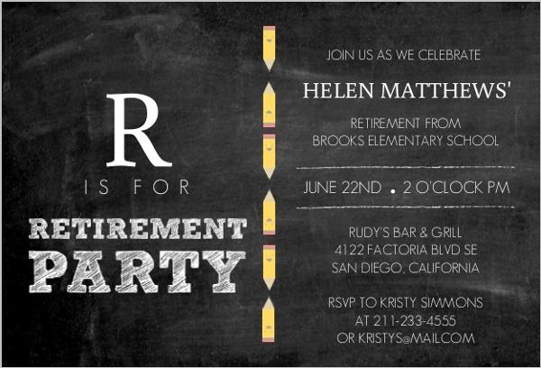 abcs teacher retirement party invitation retirement invitations