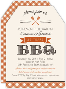 Country Checker BBQ Retirement Party Invitation