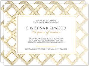 Art Deco Pattern Retirement Party Invitation