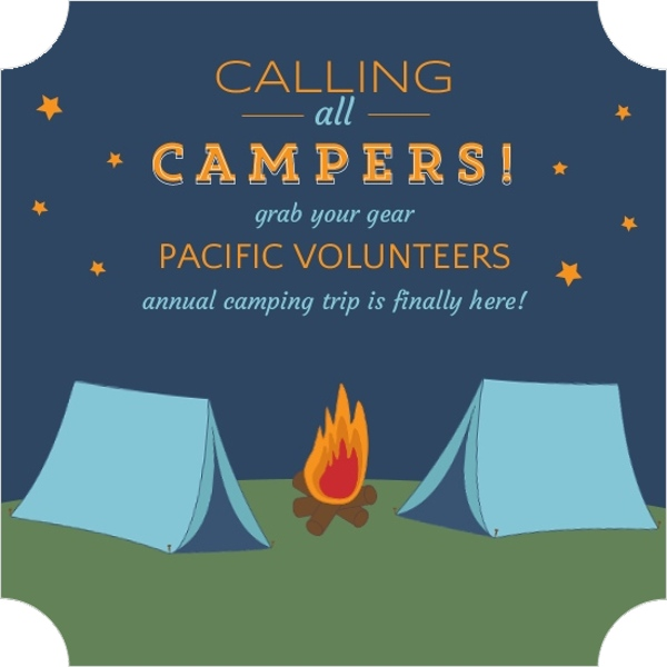 starry night camping invite trips and getaway invitations