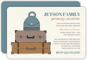 Vinage Backs & Luggage Family Vacation Invite