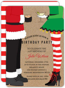 Christmas Birthday Invitations Christmas Birthday Party