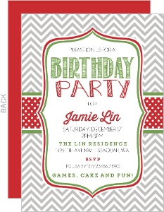 Christmas Birthday invitations Christmas Birthday Party Invitations