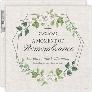 Double Hexagon Frame Memorial Card