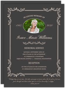 Modern Stripe Memorial  Invitation
