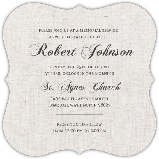 Vintage Memorial Service Invitation