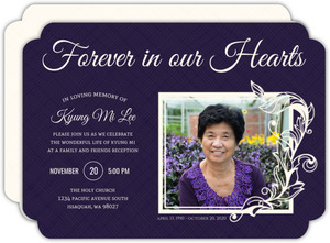 Simple Square Frame Memorial Card